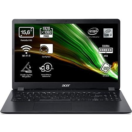 "Acer Aspire 3 - Ordenador Portátil 15.6"" FullHD (Ryzen 7 3700U, 8GB RAM, 512GB SSD, UMA Graphics, Sin Sistema Operativo), color plata - Teclado Qwerty Español"