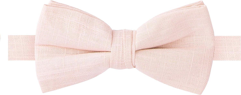 Spring Notion Men's Linen Blend Bow Tie
