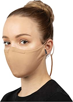 Soft Stretch Face Mask w/ Moldable Nose Pad and Lanyard 3-Pack