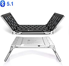 iClever BK03 Bluetooth Keyboard, Bluetooth 5.1 Foldable Wireless Keyboard with Portable..
