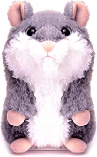 XYH Talking Hamster, Repeats What You Say Electronic Pet Talking Plush Toy, Ideal for Kids, Also Best Gift of Christmas.(Upgrade)