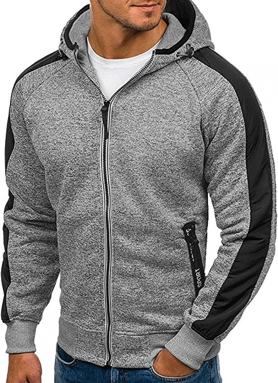 Aayomet Men's Pullover Hoodies Zipper Patchwork Long Sleeve Sweatshirts Casual Workout Sport Tops Sweaters Blouses