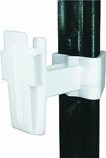 Field Guardian T-Post Polytape Insulator, 2-Inch, White