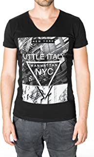 MODERNO Manhattan Little Italy New York NYC Urban Graphic T-Shirt for Men (MOD2004VN)