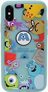 Soft Silicone Monsters University Case for iPhone XR 6.1 Green Walt Disney Pixar Cartoon Mike and Sulley Shockproof Protective Cute Lovely Pratical Cool Fun Protective Girls Teens Kids Boys Son Men