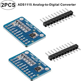 2pcs ADS1115 16 Bits 4 Channel Analog-to-Digital ADC PGA Converter with Programmable Gain Amplifier High Prcision I2C IIC 2.0V to 5.5V Bits ADC Converter Development Board for Arduino and Raspberry