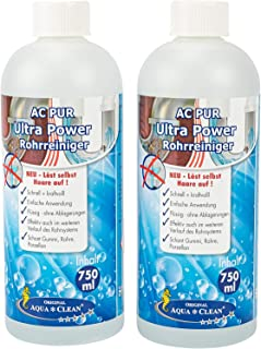 AC PUR Ultra Power Abflussreiniger effektiv & kraftvoll 2x 750ml Konzentrat Neu - Löst selbst Haare auf