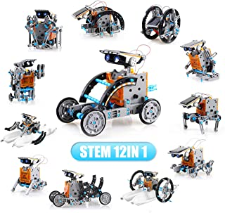 LYiUP Solar Robot Kit 12 in 1 STEM Robot Toy Education Learning Science DIY Solar Powered Building Toys for Kids Age 8+ Ye...