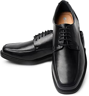 Men's Leather Dress Shoes Square Toe Lace up Oxfords