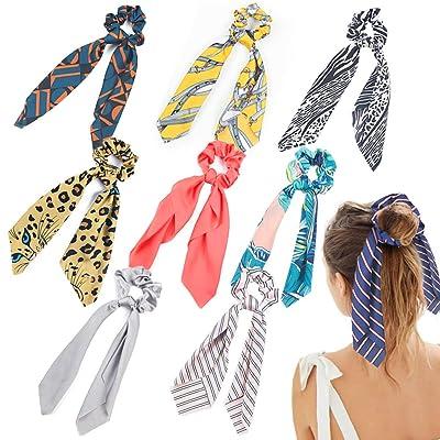 BigOtters Hair Scrunchies, 9Pcs Satin Silk Elas...