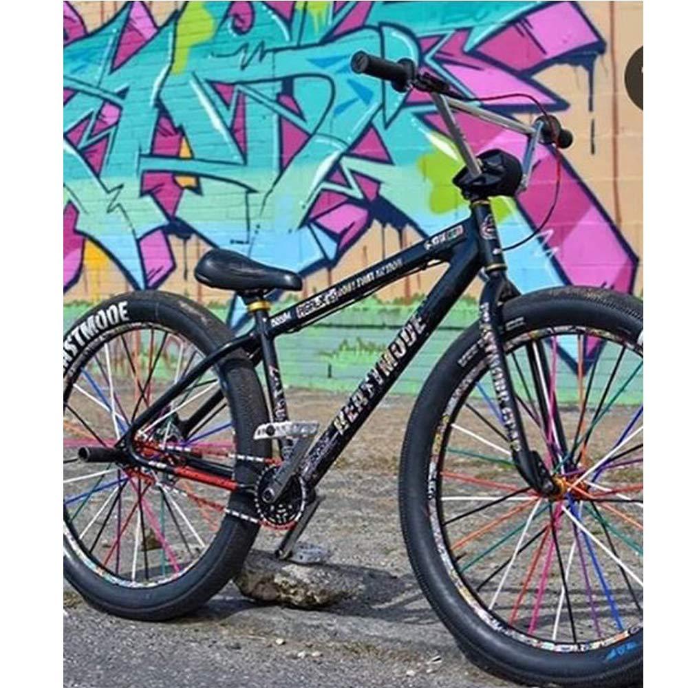 yeabwps 72 Pcs Bicycle Spoke Skins Wraps Black Wheel Decoration Protector for Motorcycl BMX MTB Kids Road Mountain Bike