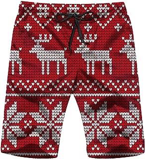 Knitted Christmas New Year Men's Swim Trunks Beach Short Board Shorts