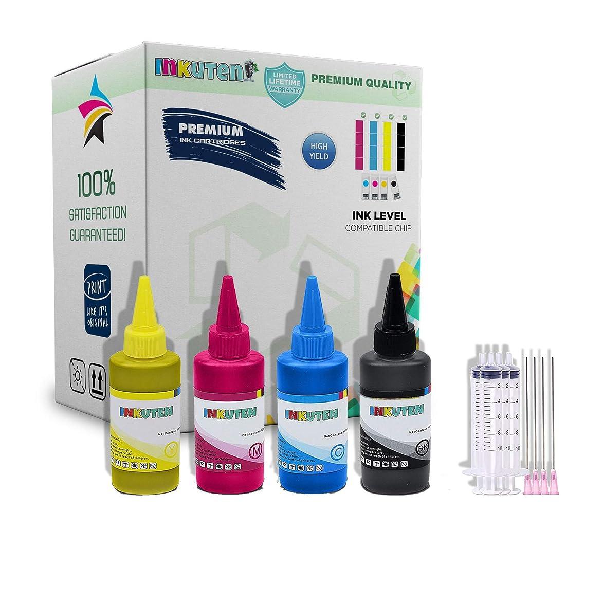 INKUTEN - Sublimation Ink for Refillable Cartridges, CISS/Heat Transfer, 400ml for Stylus: C68, C88, C88+, CX3800, CX3810, CX4200, CX4800, CX5800F, CX7800 Printers