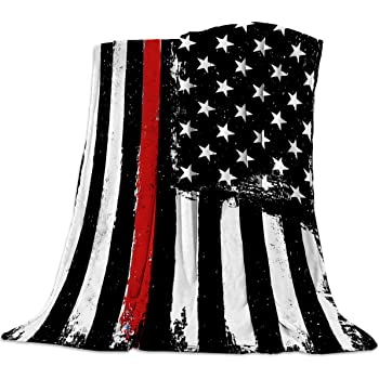 thin red line blanket