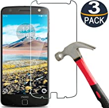 [3 Pack] Moto Z Droid/Moto Z Screen Protector Tempered Glass,[9H Hardness][Ultra Clear][Anti Scratch][Bubble Free] Coolpow Tempered Glass Screen Protector Film for Motorola Moto Z Droid/Moto Z
