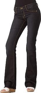 Dark Wash Bootcut Jeans | Low Rise Designer Boot Cut Dark Blue Jeans