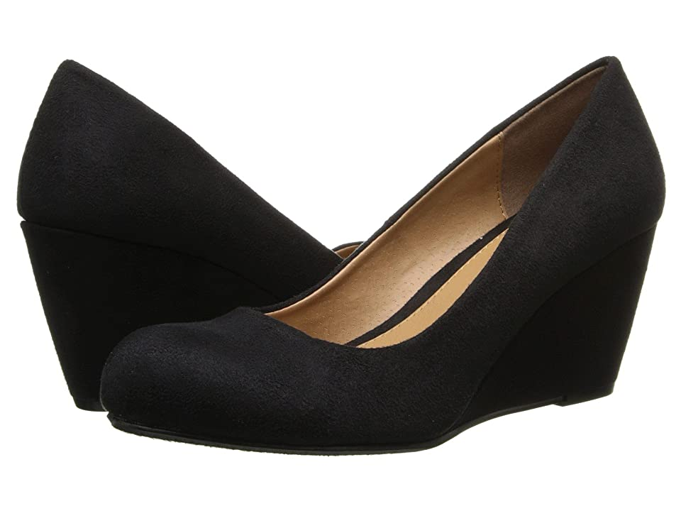 Dirty Laundry DL Not Me Wedge Pump (Black Suede) Women