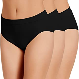 LES ESSENTIELLES, Bragas sin Costura de Cintura Alta para Mujeres - Microfibra elástica - Ultra Suave y cómoda - Pack x3 - Color: Blanco Negro o Natural
