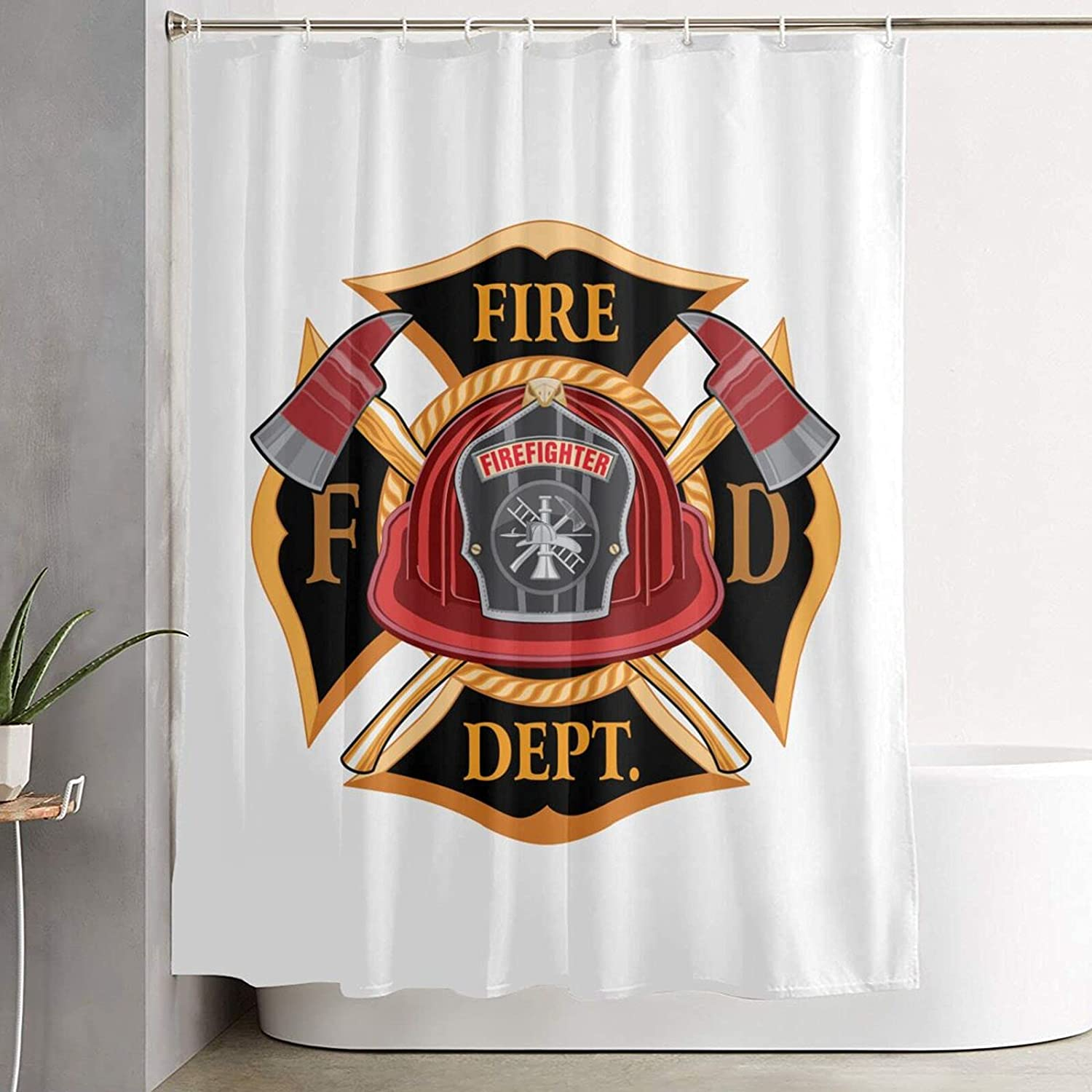 Fire Department Cross Vintage Fresno Mall Max 63% OFF with Red and Bathroom Axes Helmet