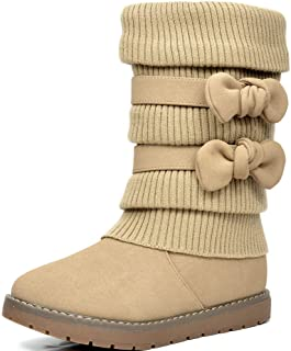 Girl's Winter Snow Boots Faux Fur Lined Mid Calf Shoes