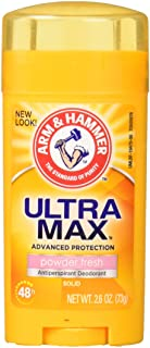 Arm and Hammer Ultramax Deodorant and Antiperspirant - Powder Fresh, 2.60 Ounce (Pack of 4)
