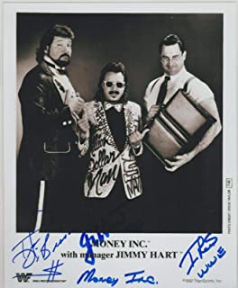 Money Inc Ted DiBiase Jimmy Hart & I.R.S. Signed WWE 8x10 Photo - Autographed Wrestling Photos