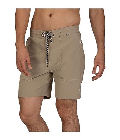Hurley 18 Phantom Beachside Packable Boardshorts (Khaki) Men