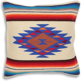 El Paso Designs Serape Throw Pillow Cover, 18 X 18, Hand Woven in Southwest and Native American Styles. 6