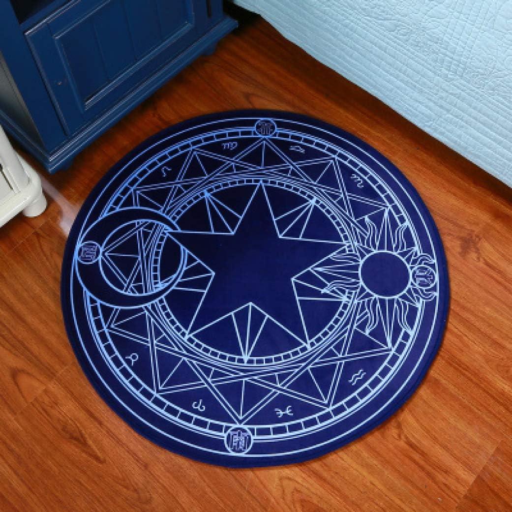 LONIY Kids Bedroom Carpet Cartoon Pink Sakura Magic Circle Round Play Carpet Computer Chair Hanging Basket Puzzle Mats