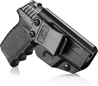 SCCY CPX-2 Holster, SCCY CPX-1 Holster, Polymer Inside Waistband Concealed Carry Holster for SCCY CPX1 CPX2 9mm Pistol, Gun Holster for Men/Women |Adj. Cant Retention Belt Clip