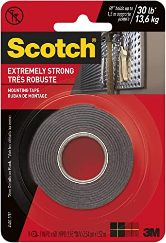 Scotch 414P Extremely Strong Mounting Tape 2.5cm x 1.5m, Black