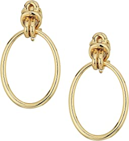 LAUREN Ralph Lauren Classic Metal Knots Door-Knocker Clip Earrings