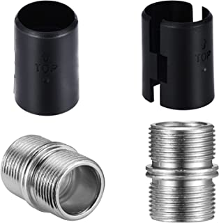 """Canomo 48 Packs Wire Shelving Shelf Lock Clips and 4 Packs Pole Connectors for 1 inch (0.047""""/1.2mm Thick) Wire Shelve She..."""