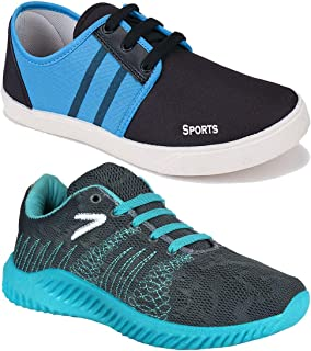 Earton Sports Shoes, Running Shoes, Sneakers Shoes Men Canvas Combo Pack of