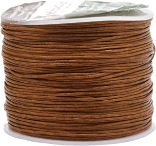 Mandala Crafts 0.5mm 109 Yards Jewelry Making Crafting Beading Macramé Waxed Cotton Cord Thread (Russet Brown)