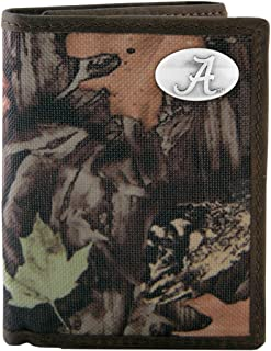 NCAA Alabama Crimson Tide Zep-Pro Fencerow Nylon Trifold Concho Wallet, Camouflage