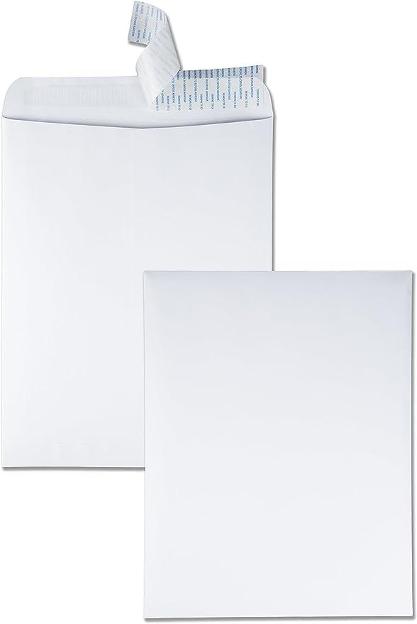 White 100//Box 9x12 Quality Park 44580 Quality Park Redi-Strip Booklet Envelopes 28lb