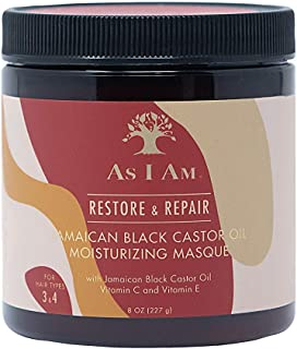 As I Am JBCO Masque - 8 ounce - Deep Conditioning & Hydration - Repairs and Restores Scalp Health - Vegan and Cruelty Free...