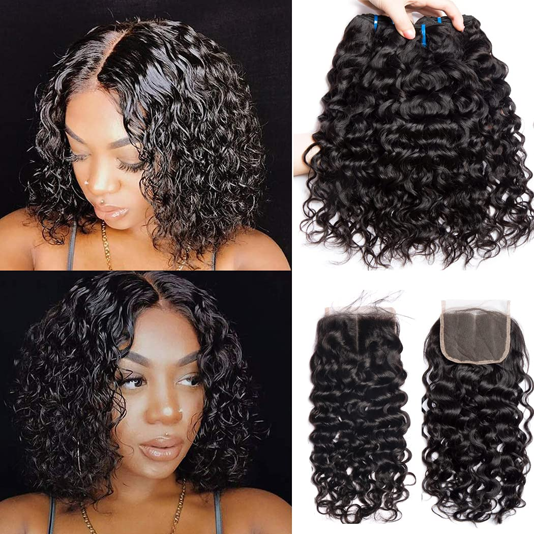 10A Water Wave Bundles with Closure We 12 Sunlight 14+10 10 Max 85% OFF Gorgeous Ms