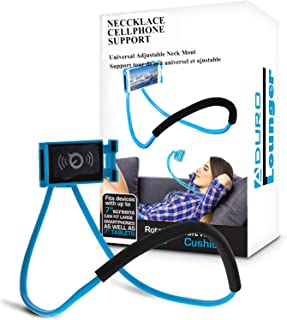 Phone Neck Holder, Lazy bracket Gooseneck Lazy Neck Phone Mount to Free Your Hands for iPhone Android Smartphone (Bule)