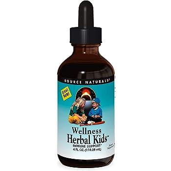 Source Naturals Wellness Herbal Kids Liquid Immune Defense Supplement & Immunity Booster with Echinacea, Elderberry & Yin Chiao - 4 OZ