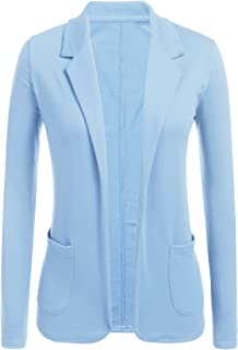 Womens Open Front Blazer Long Sleeve Slim Fit Work Office Cardigan Jacket