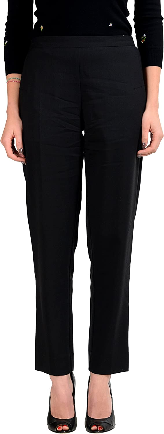 Maison Margiela 4 Women's 100% Wool Black Casual Pants US L IT 44