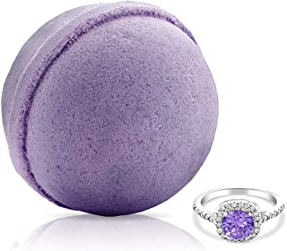 Fragrant Jewels Tranquility Lavender Bath Bomb with Collectible Ring (Size 5-10)