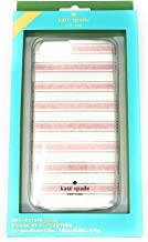 Kate Spade Clear Protective Case for iPhone 8 Plus, 7 Plus,6 Plus, Pink Glitter Stripe