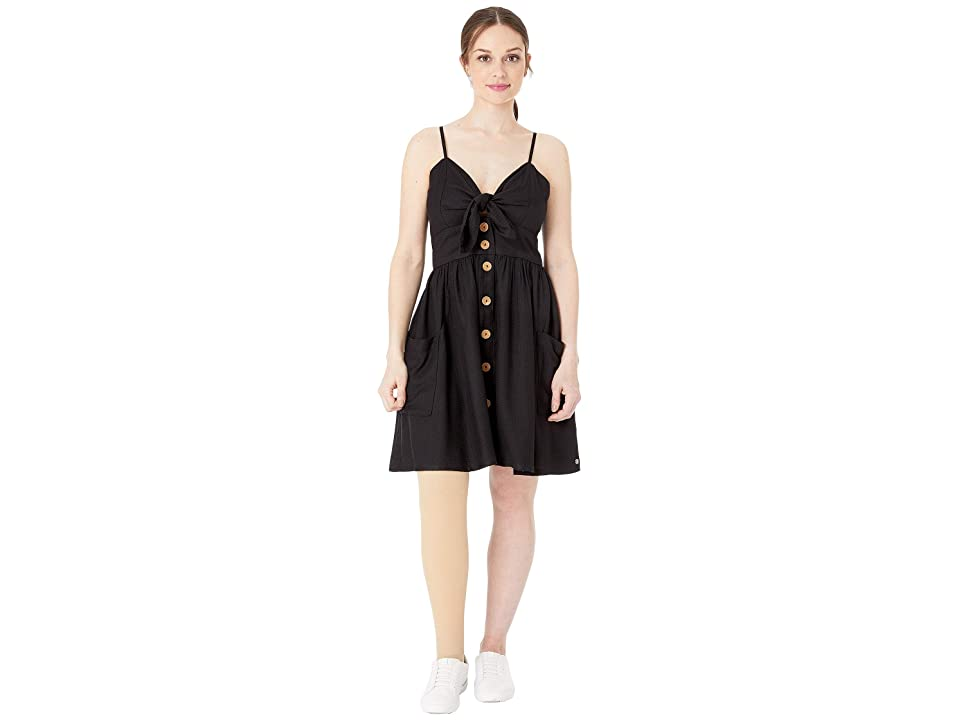 Roxy Under the Cali Sun Woven Dress (Anthracite) Women