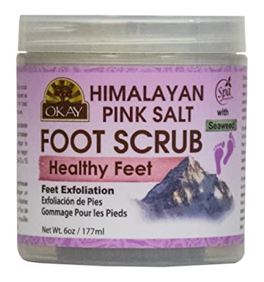 OKAY Himalayan Pink Salt with Seaweed Foot Scrub