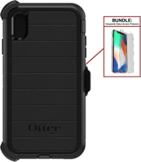 Otterbox Bundle: Heavy Duty Case for Apple iPhone Xs Max (ONLY) – Superior Drop Protection - Modern Design + Bonus Tempered Glass Screen Protector (Renewed)