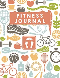 Fitness Journal: 100 Days Food and Exercise Journal - Daily Workout Log (Large Print 8.5