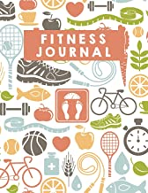 """Fitness Journal: 100 Days Food and Exercise Journal - Daily Workout Log (Large Print 8.5""""x11"""") - Notebook and Journal: Gym Journal (Volume 3)"""